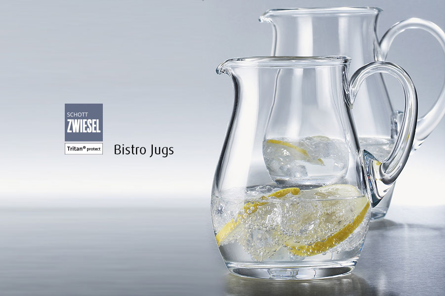 Professional bar glassware available from houseware.ie co. meath bistro jugs