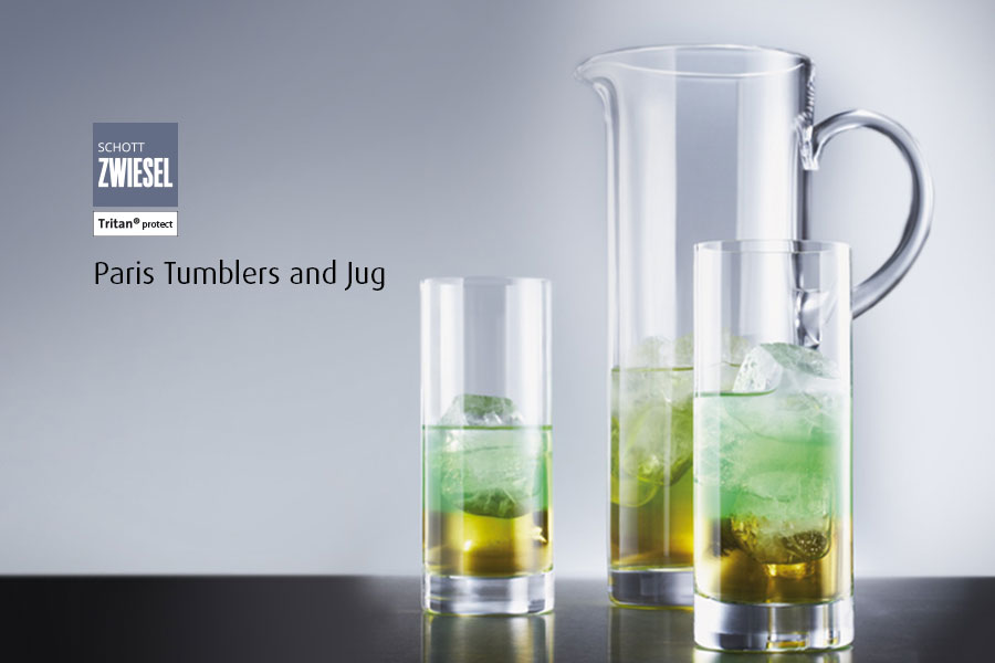 Professional bar glassware available from houseware.ie co. meath paris tumblers and jug