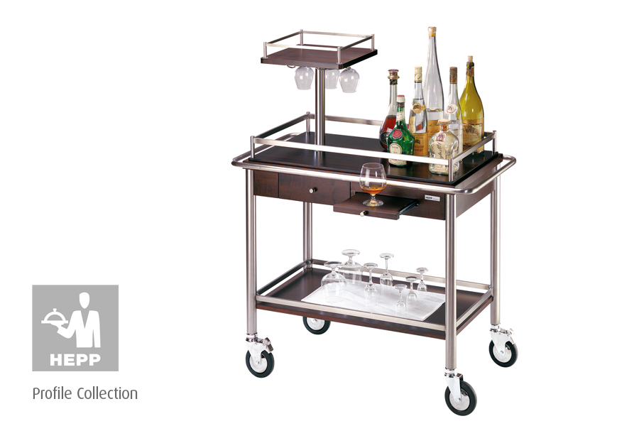 hepp service trolley, modern service trolley supplied by houseware.ie, dunboyne co. meath
