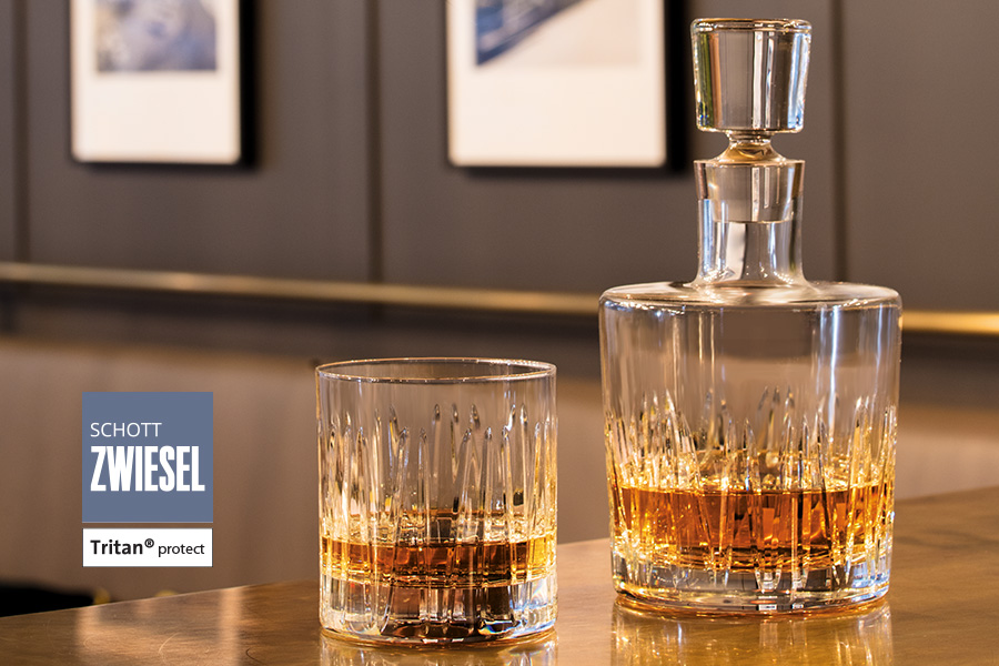 whiskey glass and decanter for professional bar staff - basic bar professional glassware by schott zwiesel available in ireland from houseware.ie in Dunboyne