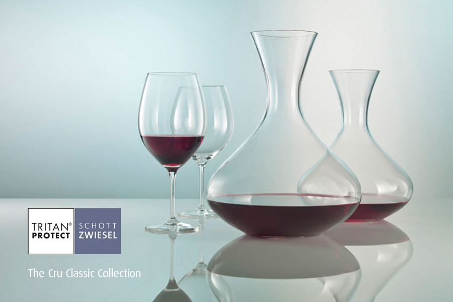 Cru Classic Collection wine decanters by Schott Wiesel and supplied by Houseware International Dunboyne, Houseware.ie