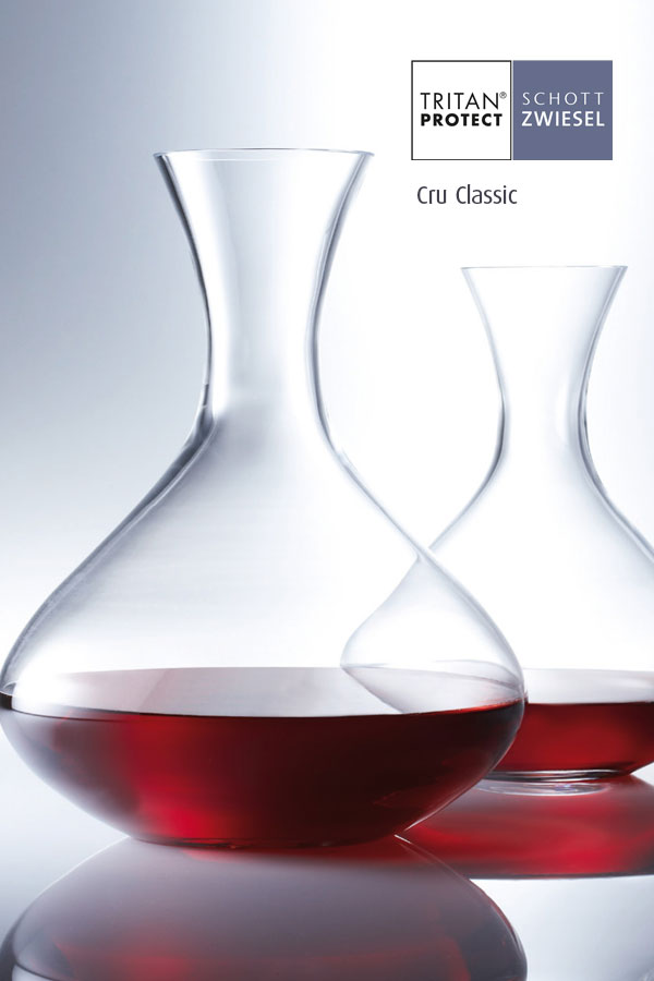 cry classic wine decanters by Schott Wiesel and supplied by Houseware International Dunboyne, Houseware.ie