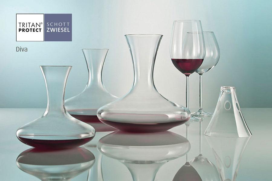 Diva wine decanters by Schott Wiesel and supplied by Houseware International Dunboyne, Houseware.ie
