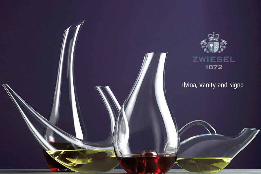 Irvine Vanity and Signo Exclusive Zwiesel 1872 decanters supplied by houseware international dunboyne