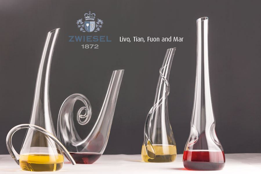 Live Tian Fuon Mar Exclusive Zwiesel 1872 decanters supplied by houseware international dunboyne