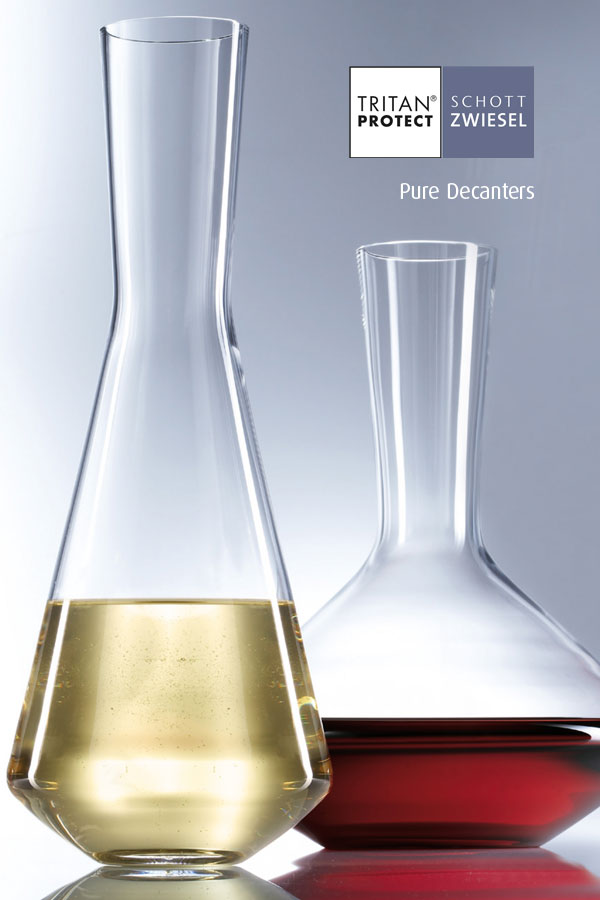 pure decanters wine decanters by Schott Wiesel and supplied by Houseware International Dunboyne, Houseware.ie