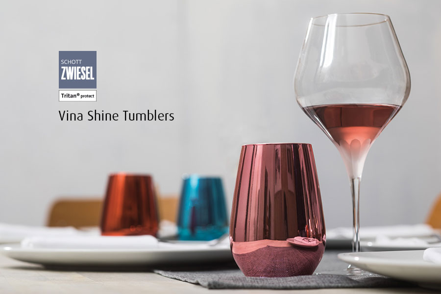Professional bar glassware available from houseware.ie co. meath shine tumblers colours