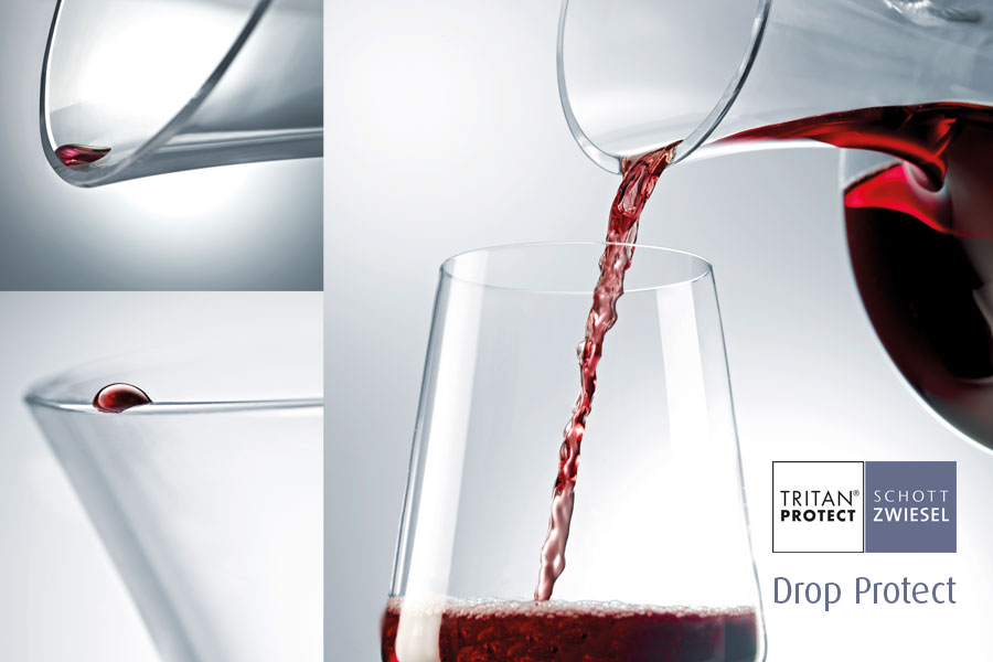 Drop Protect on schott wiesel decanters supplied by houseware international nationwide