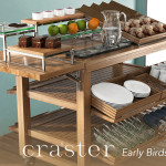 craster buffet displays from houseware.ie early-birds-trolley