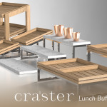 craster buffet display systems at houseware.ie lunch-buffet-flow-display-wood-marble-copper