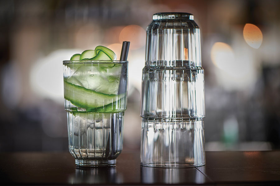 Artis stackable glasses perfect for a gin and tonic available from houseware.ie