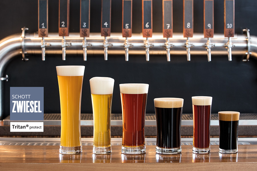 basic beer glassware for the professional designed by schott zwiesel, available in Ireland from houseware.ie in co. meath