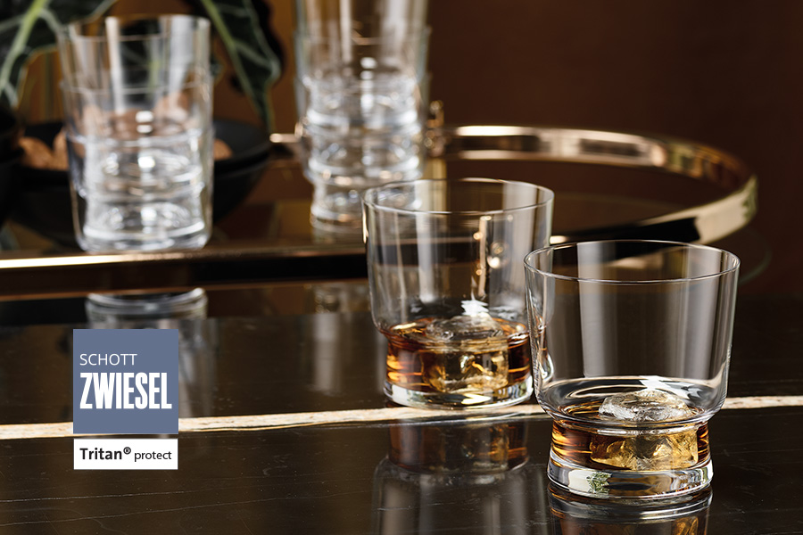 tower stackable tumblers suitable for whiskey, by schott zwiesel available from houseware.ie in dunboyne