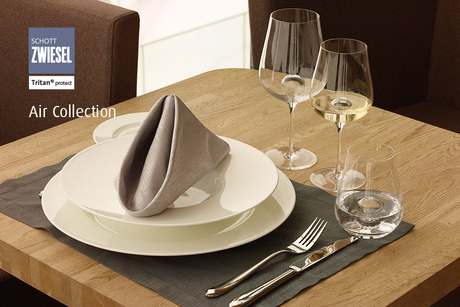air by schott zwiesel elegant wine service available from houseware.ie in Dunboyne Co. Meath - table setting